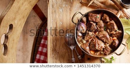venison ragout Stock photo © fanfo