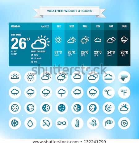 Hava durumu örnek vektör soyut iş Stok fotoğraf © auimeesri