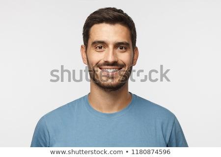 Uśmiechnięta twarz człowiek stałego strony uśmiech szczęśliwy Zdjęcia stock © feedough
