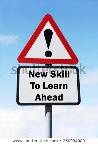 новых · навыки · иллюстрация · шоссе · знак · подготовки - Сток-фото © tashatuvango