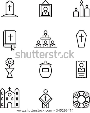 death outline icons stock photo © glorcza