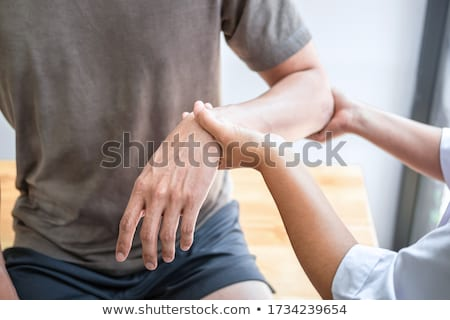 Yaralı kol el vücut kas Stok fotoğraf © armin_burkhardt