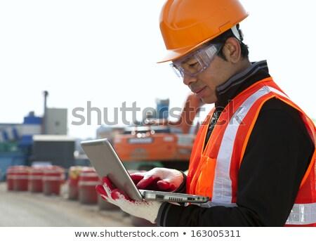 Asia · constructor · excavadora · conductor · pie - foto stock © kzenon