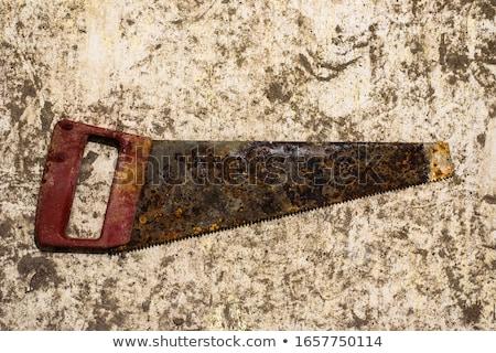 Old rusty hacksaw Stock photo © michaklootwijk
