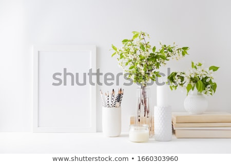 books and plant Stock photo © konturvid