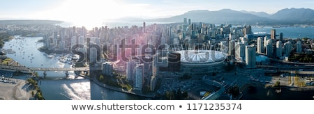 Vancouver sziluett tenger kék utazás városi Stock fotó © eddygaleotti