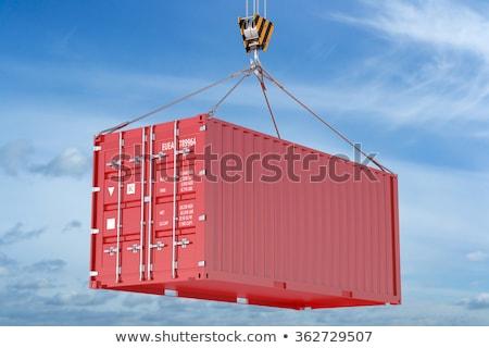 Logistique bleu suspendu fret contenant crochet Photo stock © tashatuvango