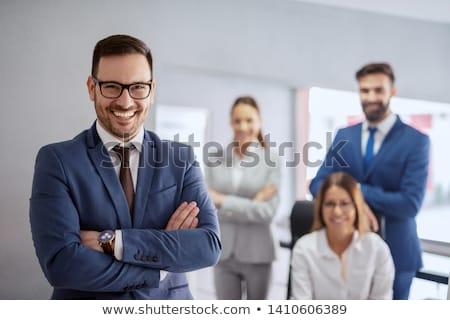Líder da equipe colegas pessoas do grupo negócio mulher escritório Foto stock © HASLOO