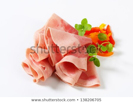 Fresh shaved ham Stock photo © homydesign