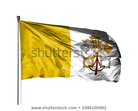 Map on flag button of Vatican City State (Holy See ) Stock photo © Istanbul2009