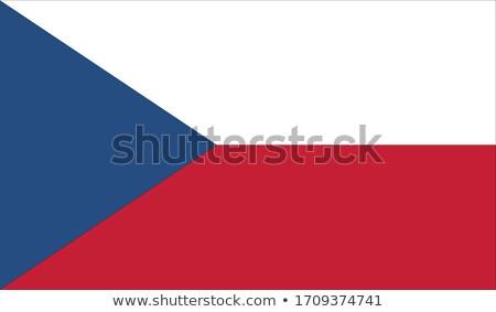 czech republic flag map stock photo © tony4urban