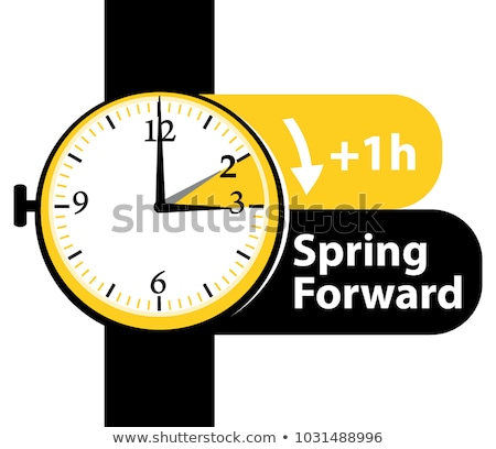 Clock switch to summer time daylight saving time  Stock photo © m_pavlov