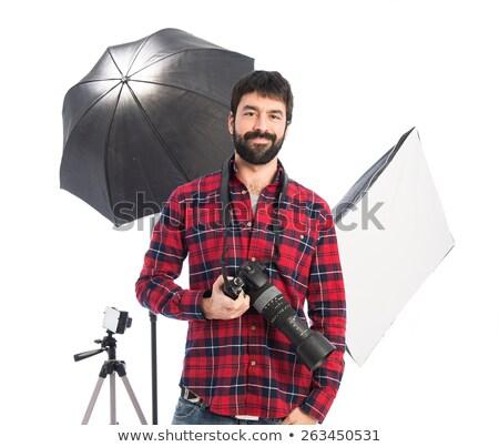 Young bearded photographer Stock photo © Valeriy