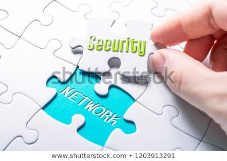VPN - White Word on Blue Puzzles. Stock photo © tashatuvango