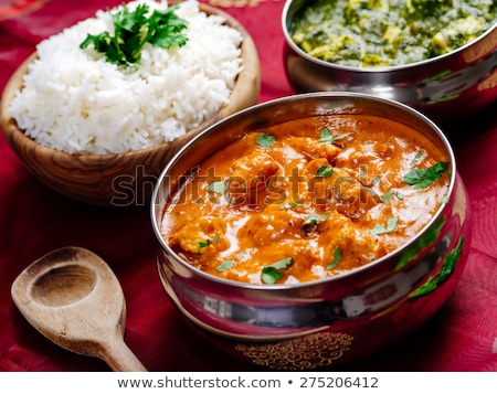 murgh makhani and saag paneer stock photo © sumners