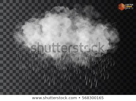 Regenachtig wolk asfalt vrede Blauw Stockfoto © Sonya_illustrations