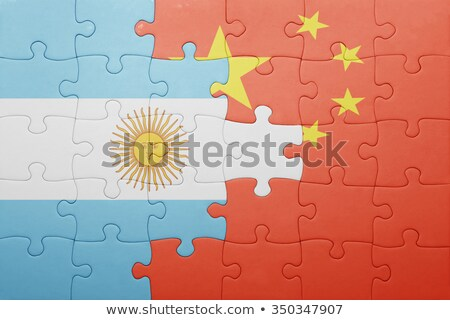 Argentina and China Flags in puzzle  Stock photo © Istanbul2009