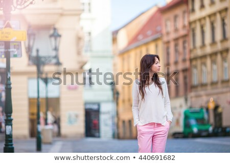 Empty Prague Street in Early Morning Stock photo © stevanovicigor