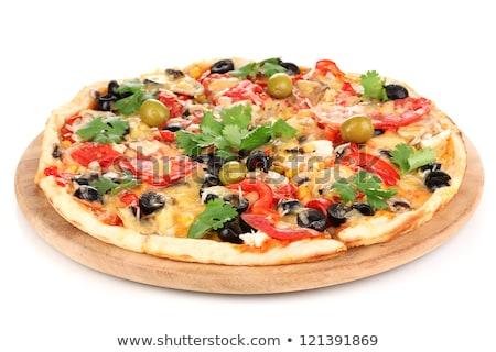 Supreme Pizza  isolated  Stock photo © fanfo