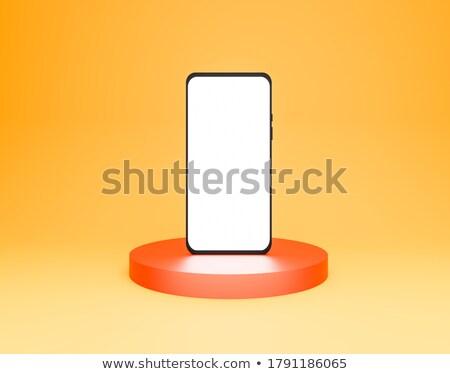 アプリケーション オレンジ アイコン 実例 白 xxx ストックフォト © nickylarson974