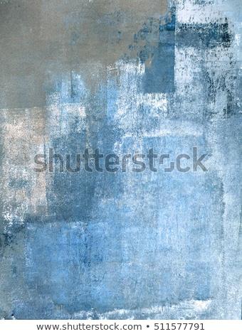 グレー 青 絵画 抽象的な ブラシ テクスチャ ストックフォト © Kheat