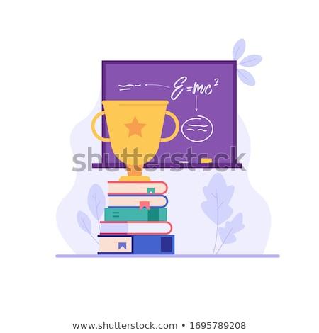 Onderwijs beker vector witte papier school Stockfoto © leonardo