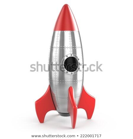 tűzijáték · rakéta · izolált · fekete · buli · jókedv - stock fotó © netkov1