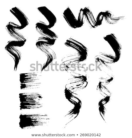 Mascara borstel ingesteld oog vrouwen mode Stockfoto © gladiolus