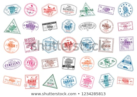 визы штампа два марок макроса фото Сток-фото © bezikus