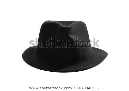 Fekete kalap fehér férfiak fej kultúra Stock fotó © shutswis