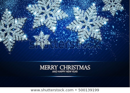 Blue Christmas Striped Card Stock photo © derocz