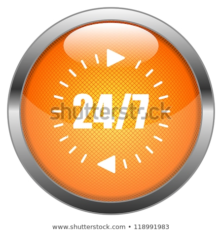 24 Hours Service Golden Vector Icon Button Stock photo © rizwanali3d