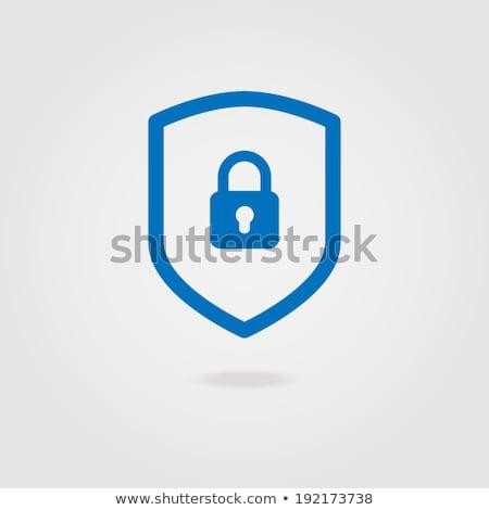 Plug signo azul vector icono diseno Foto stock © rizwanali3d