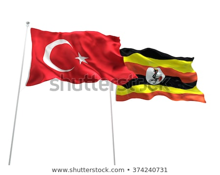 Turquía Uganda banderas rompecabezas aislado blanco Foto stock © Istanbul2009