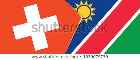 Швейцария Намибия флагами головоломки изолированный белый Сток-фото © Istanbul2009
