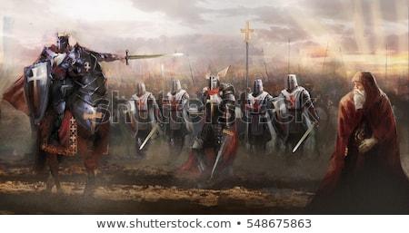 cavaleiro · enorme · espada · gradientes · terno · soldado - foto stock © ensiferrum