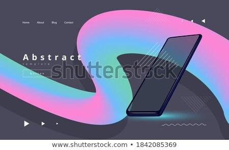 fény · vektor · színes · technológia · ikonok · üzlet - stock fotó © saicle