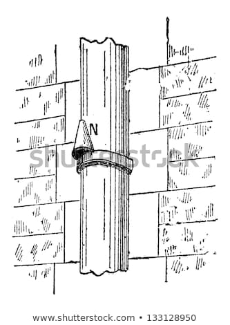 Downspout Nose, vintage engraving Stock photo © Morphart