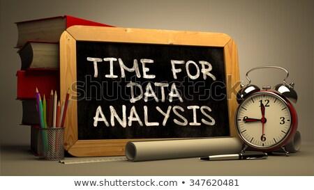 Zaman veri analiz kara tahta bulanık Stok fotoğraf © tashatuvango