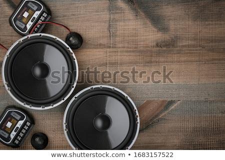Audio dynamica partij technologie metaal Stockfoto © shutswis