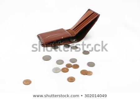 Stock fotó: Battered Empty Purse With Tear
