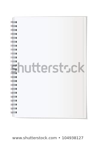 Spirál jegyzet könyv oktatás notebook tanulás Stock fotó © shutswis