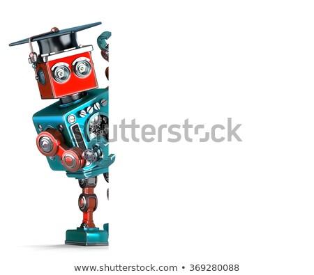 3D · robot · afiş · yalıtılmış · beyaz - stok fotoğraf © kirill_m