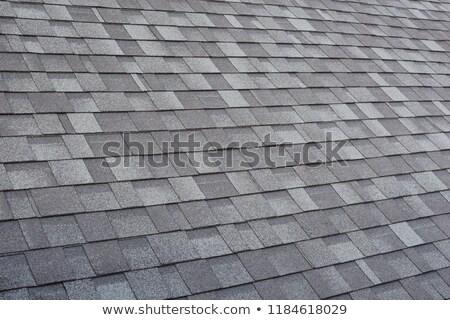slate roof shingles background stock photo © njnightsky