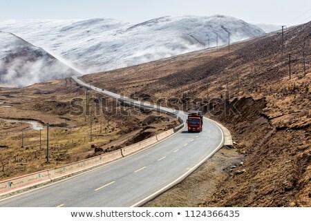 World under the snow in the mountains. Stock photo © EFischen