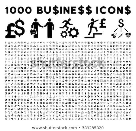 background with business icons stock photo © rastudio