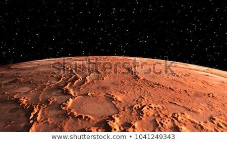 赤 · 惑星 · スペース · 目に見える · 岩 · 薄い - ストックフォト © sdecoret