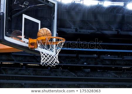 Indoor basketball hoop Stock photo © sumners