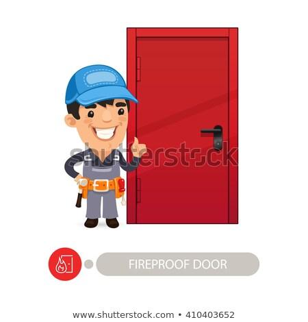 Fireproof Door and Worker Stock photo © Voysla