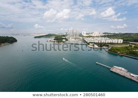 panorâmico · ver · Cingapura · surpreendente · negócio · centro - foto stock © dutourdumonde